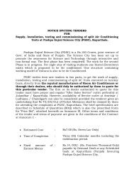 NOTICE INVITING TENDERS FOR Supply, Installation, testing and ...