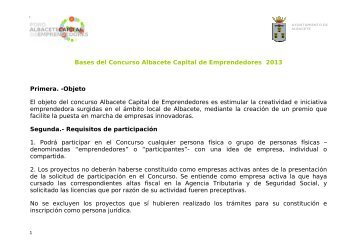 Bases del Concurso Albacete Capital de Emprendedores 2013 ...