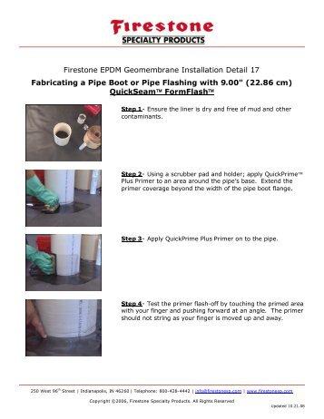 Firestone EPDM Geomembrane Installation Detail 17 Fabricating a ...