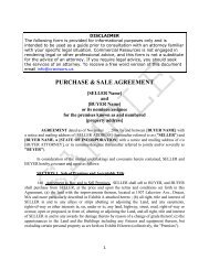 PURCHASE & SALE AGREEMENT - CR Advisors
