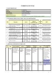 CV Romana - UCDC - Universitatea Crestina Dimitrie Cantemir