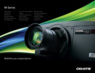Christie M Series brochure - The Chariot Group, Inc