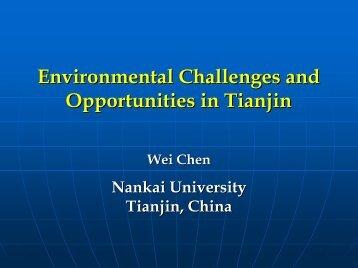 Wei Chen, Co-Director, Tianjin Key Laboratory of Environmental ...
