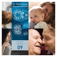 ANNUAL REPORT - Mental Health Research Institute