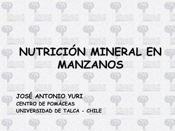 NUTRICIÓN MINERAL EN MANZANOS