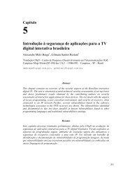 Introdução à segurança de aplicações para a TV digital ... - DAINF