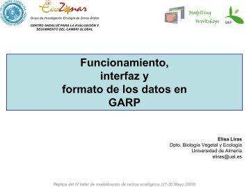 Funcionamiento, interfaz y formato de los datos (entrada - Gbif.es