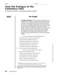 The prologue : from the Canterbury tales