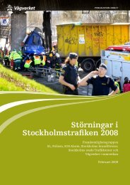 Störningar i Stockholmstrafiken 2008 - Movea Trafikkonsult AB