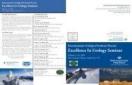Excellence In Urology Seminar - Intermountain.net
