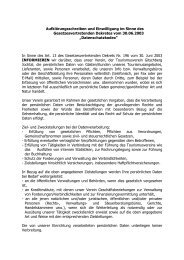 Datenschutzgesetz - Gitschberg Jochtal