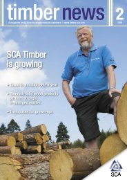 SCA Timber is growing - SCA Forest Products AB