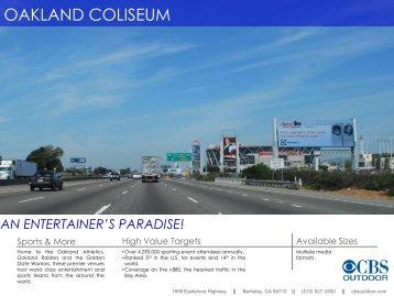 OAKLAND COLISEUM - CBS Outdoor