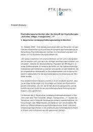 Pressemitteilung - PTK Bayern