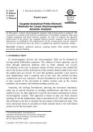 Coupled Analytical-Finite Element Methods for Linear ...