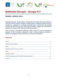 Bollettino Energia – Europa N.3 - Corrente - Gse