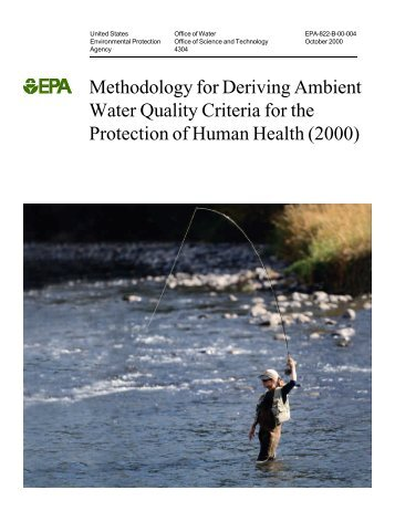 Methodology for Deriving Ambient Water Quality Criteria for the ...