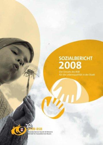 Sozialbericht 2008 - Betrieb für Sozialdienste Bozen