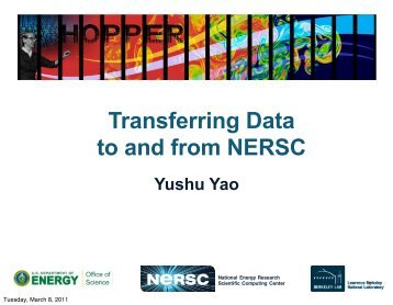 Transferring Data to and from NERSC