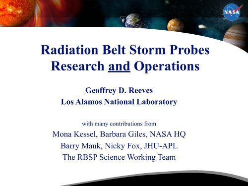 Radiation Belt Data Assimilation - Space Environment Center