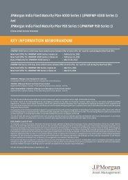 KEY INFORMATION MEMORANDUM - JP Morgan Asset Management