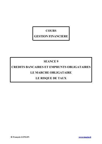 credits bancaires et emprunts obligataires