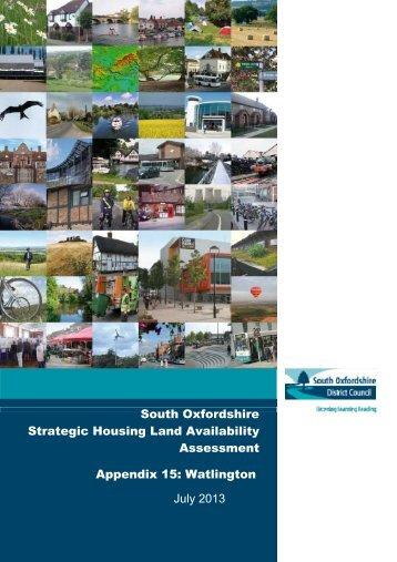 Appendix 15: Watlington - South Oxfordshire District Council