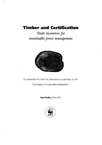 Timber and Certification - Impact monitoring of Forest Management ...