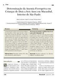 Determinação da Anemia Ferropriva em Crianças de ... - NewsLab