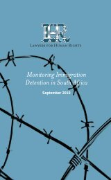 Monitoring Immigration Detention in South Africa - No Racism