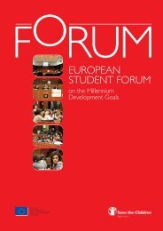 EUROPEAN STUDENT FORUM - Save the Children Italia Onlus