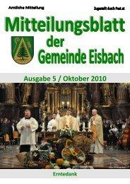 Ausgabe 5 / Oktober 2010 - Gemeinde Eisbach