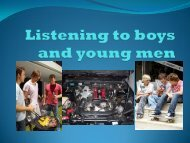 Listening to boys and young men