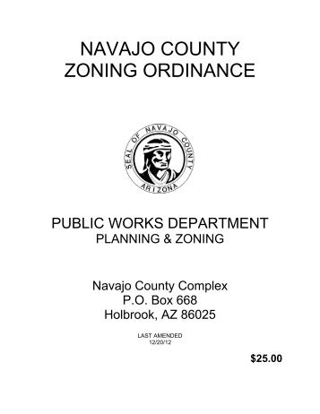 NAVAJO COUNTY ZONING ORDINANCE
