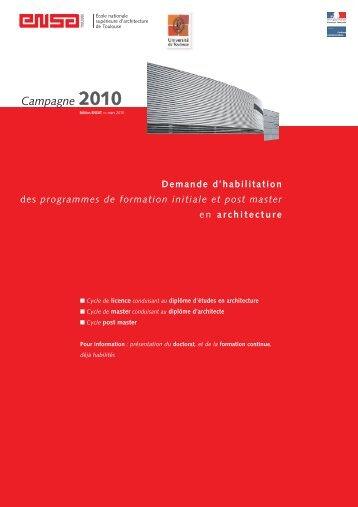 Dossier d'habilitation des programmes de formation initiale et post ...