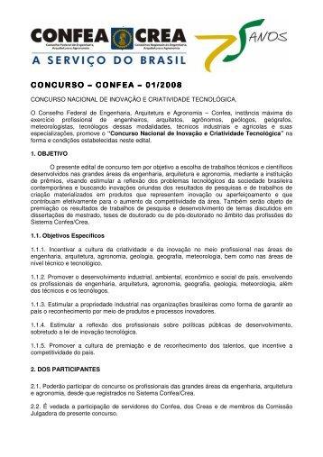 Concurso Nacional de Inovação e Criatividade Tecnológica ... - sbmet