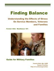 Finding Balance For Military Families - the ATTC Network
