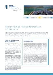 La FEMIP et le défi énergétique en Méditerranée