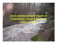 Local and Downstream Impacts of Contemporary Forest Practices ...