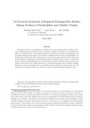 An Economic Evaluation of Empirical Exchange Rate Models ...