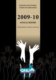 ANNUAL report - Queensland Nurses Union