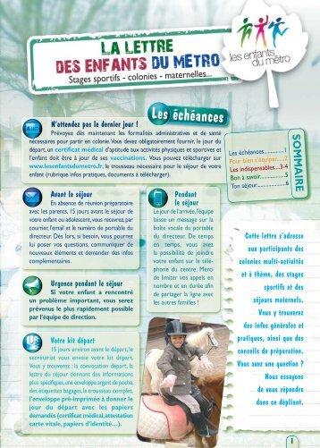 lettre enfants du metro (Page 3) - Les enfants du Métro