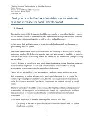 Best practices in the tax administration for sustained revenue ...