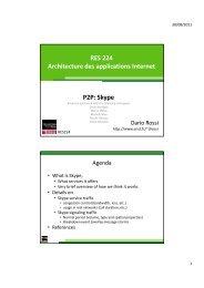 RES 224 Architecture des applications Internet P2P: Skype
