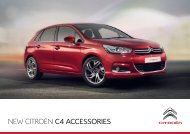 NEW CITROËN C4 ACCESSORIES - Citroen