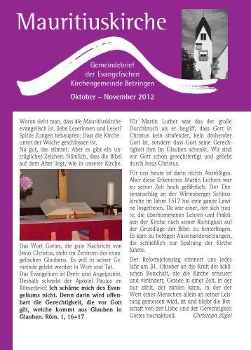 Oktober – November 2012 - Mauritiusgemeinde-betzingen.de
