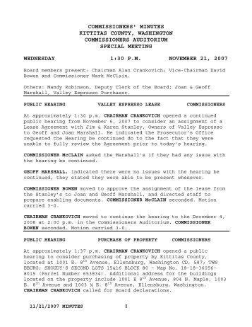 2007-11-21 Public Hearing - Kittitas County Government
