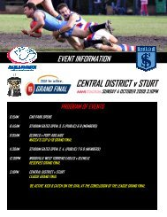 CENTRAL DISTRICT v STURT - sanfl