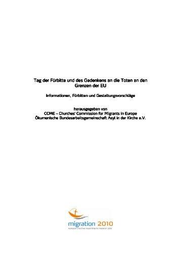 Fürbitte und Gedenken an die Toten an den ... - Migration 2010