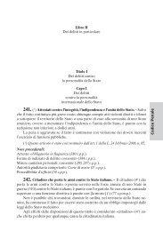 Codice P enale Libro II Dei delitti in particolare Titolo I ... - La Tribuna